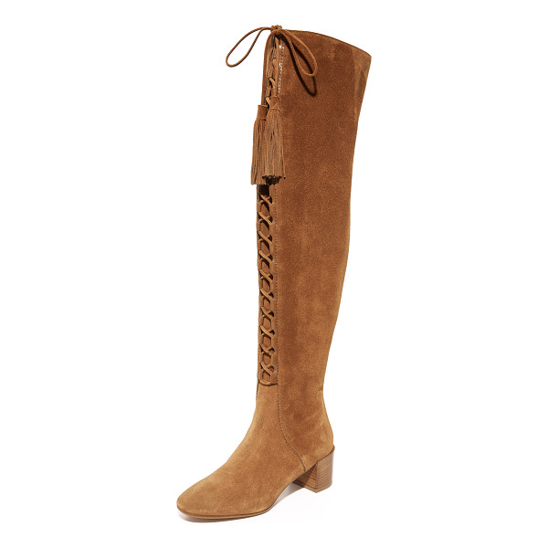 MICHAEL KORS COLLECTION harris lace up over the knee boots - Luxe suede Michael Kors Collection over the knee boots...