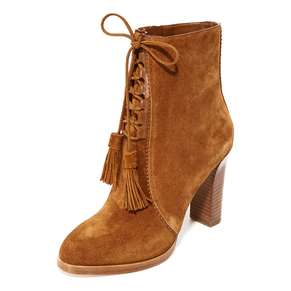 MICHAEL KORS COLLECTION odile lace up booties - Luxe suede Michael Kors Collection booties styled with...