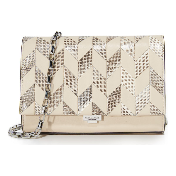 MICHAEL KORS COLLECTION yasmeen small clutch - A petite Michael Kors Collection clutch in a patterned mix...