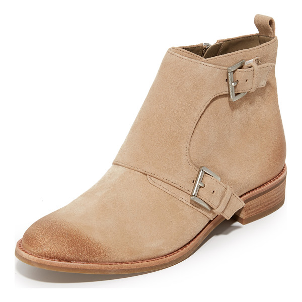 MICHAEL MICHAEL KORS adams monk strap booties - Buckles accent the fold over shaft on these suede MICHAEL