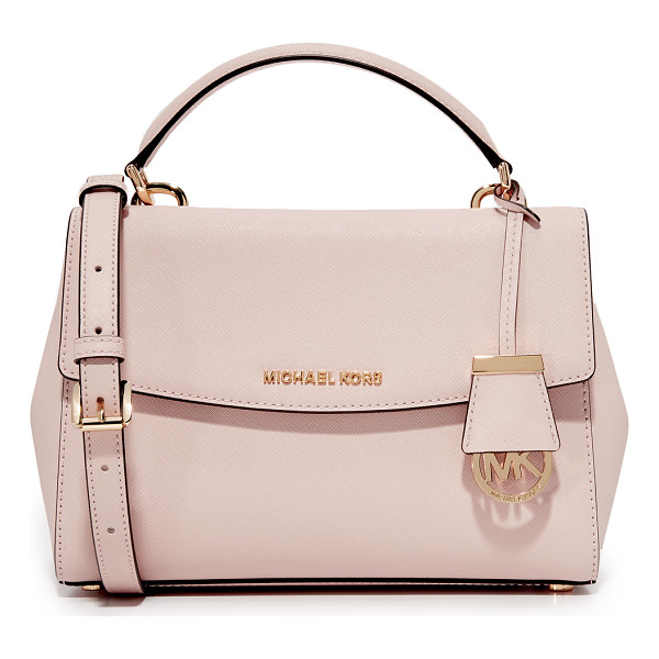 MICHAEL MICHAEL KORS ava small satchel - A petite MICHAEL Michael Kors cross-body bag with polished...