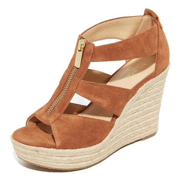 MICHAEL MICHAEL KORS damita wedges - Suede MICHAEL Michael Kors sandals featuring cutouts sides...