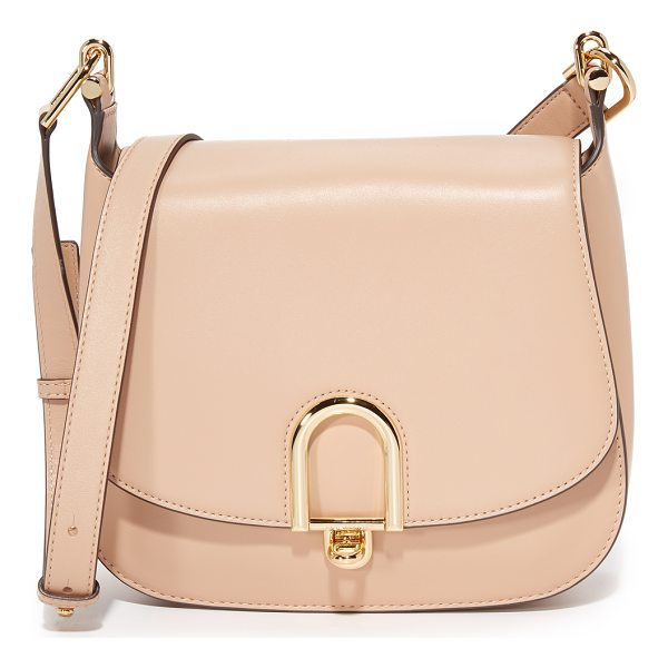 MICHAEL MICHAEL KORS delfina saddle bag - Polished oval hardware punctuates the front of this...