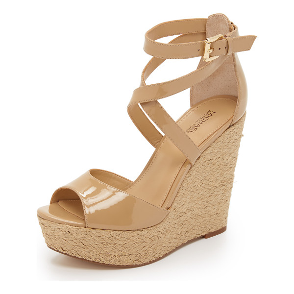 MICHAEL MICHAEL KORS Gabriella wedge sandals - Braided jute trim wraps around the wedge heel and platform...