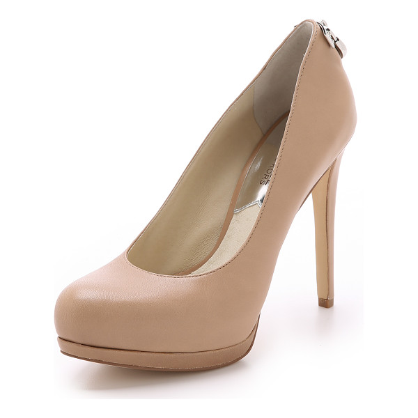 MICHAEL MICHAEL KORS Hamilton pumps - A logo trimmed lock shines from the heel of these towering