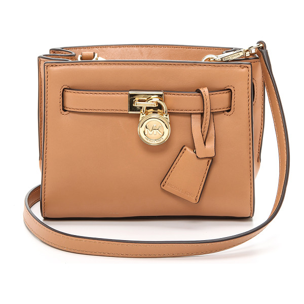 MICHAEL MICHAEL KORS Hamilton small messenger bag - Supple leather composes this tiny MICHAEL Michael Kors