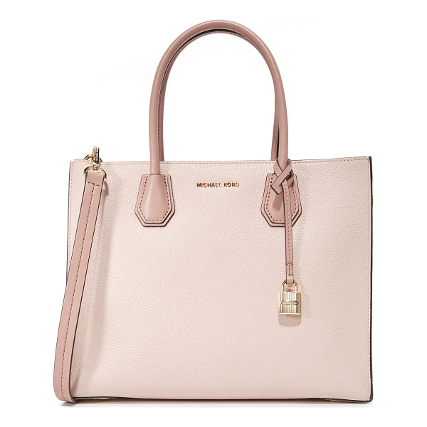 MICHAEL MICHAEL KORS large mercer convertible tote - A structured, pebbled-leather MICHAEL Michael Kors tote