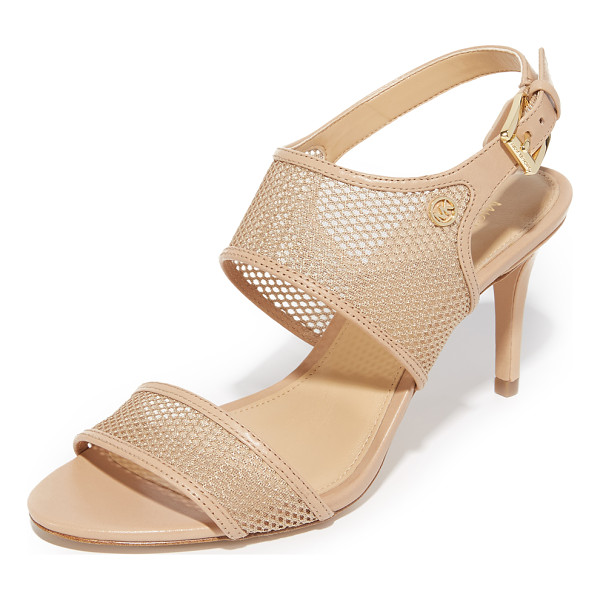 MICHAEL MICHAEL KORS Michael Michael Kors Leilah Sandals - Sheer mesh panels accented with smooth leather trim compose...