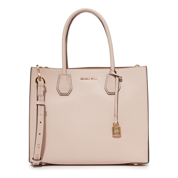 MICHAEL MICHAEL KORS mercer tote - A structured MICHAEL Michael Kors tote in pebbled leather....