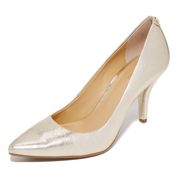 MICHAEL MICHAEL KORS Michael Michael Kors Mid Flex Pumps - Crackled, metallic leather updates these refined, pointed...