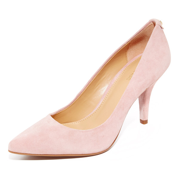 MICHAEL MICHAEL KORS mid flex pumps - Luxe suede MICHAEL Michael Kors pumps in a classic pointed