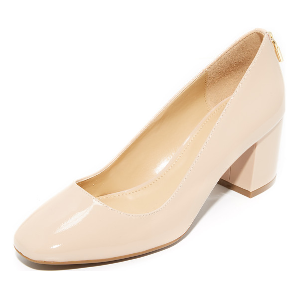 MICHAEL MICHAEL KORS mira mid pumps - A gold-tone lock charm adds a charming, playful touch to...
