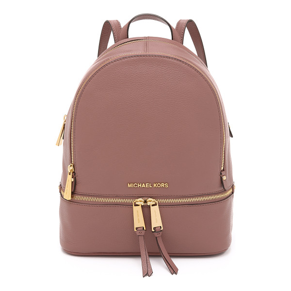 MICHAEL MICHAEL KORS Rhea backpack - A structured MICHAEL Michael Kors backpack in pebbled...