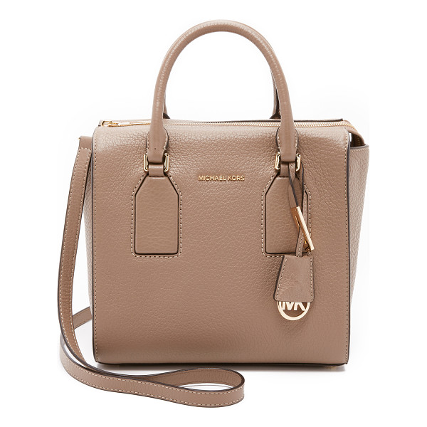 MICHAEL MICHAEL KORS Selby medium satchel - A boxy MICHAEL Michael Kors tote in pebbled leather. The