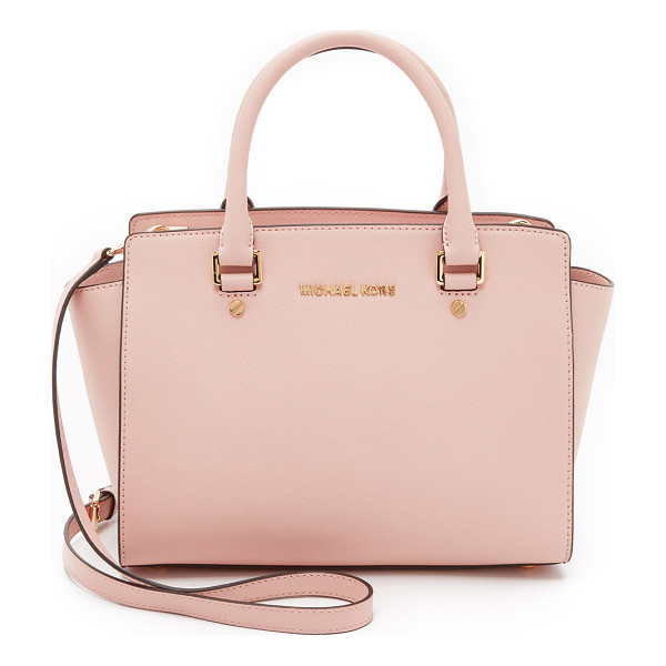 MICHAEL MICHAEL KORS Selma medium satchel - A large MICHAEL Michael Kors tote in saffiano leather. Top