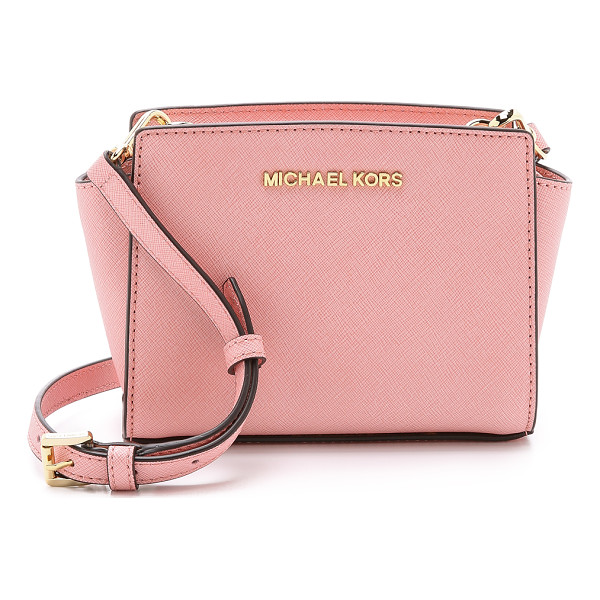 MICHAEL MICHAEL KORS Selma mini messenger bag - A structured, saffiano leather MICHAEL Michael Kors cross