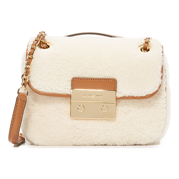 MICHAEL MICHAEL KORS Shearling sloan small shoulder bag - A petite MICHAEL Michael Kors shoulder bag, covered in soft