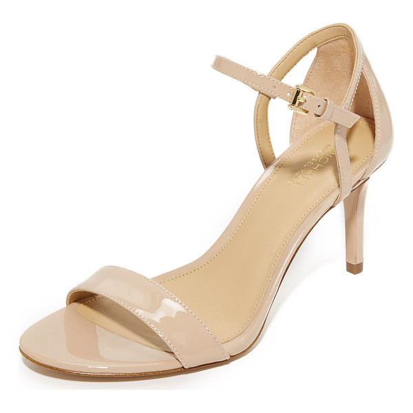 MICHAEL MICHAEL KORS simone mid sandals - Glossy patent-leather composes these MICHAEL Michael Kors...