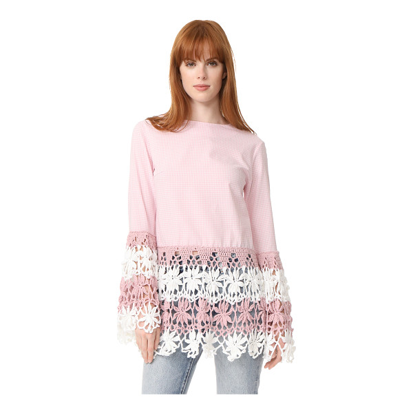 MICHAELA BUERGER long sleeve top - This checkered Michaela Buerger blouse is finished with...