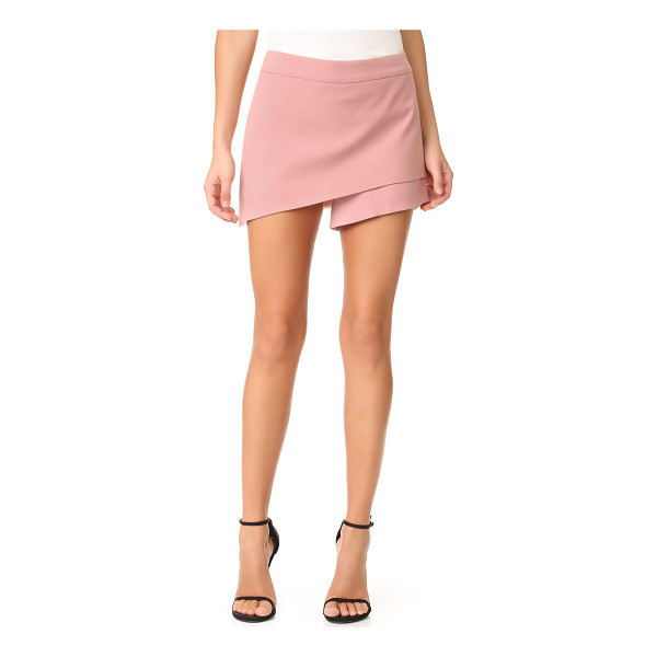 MICHELLE MASON asymmetrical skort - Michelle Mason shorts with an angled skirt overlay. Hidden...