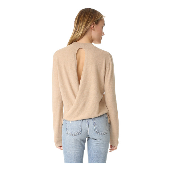 MICHELLE MASON back drape sweater - Draped, crossover back panels frame the back cutout on this...