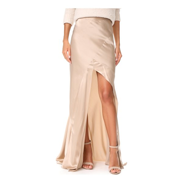 MICHELLE MASON bias maxi skirt - A deep front slit adds a flirty touch to this...