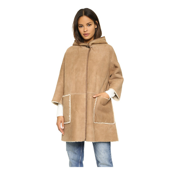 M.I.H JEANS Bay shearling coat - A hooded shearling MiH jacket in a relaxed silhouette. A...