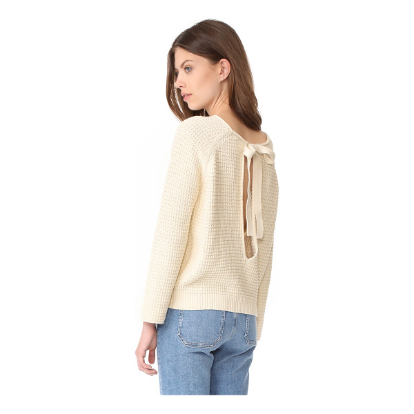 M.I.H JEANS opening sweater - Ties drape over the split back of this cozy M.i.h Jeans...