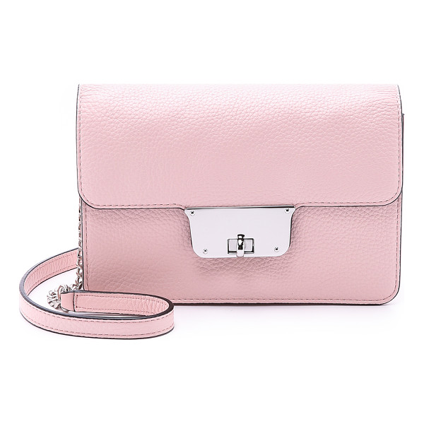MILLY Astor mini cross body bag - A petite fold over Milly bag with a polished turn lock...