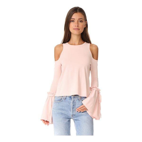 MILLY cold shoulder tie top - A crew-neck Milly top with cutout shoulders and drawstrings...