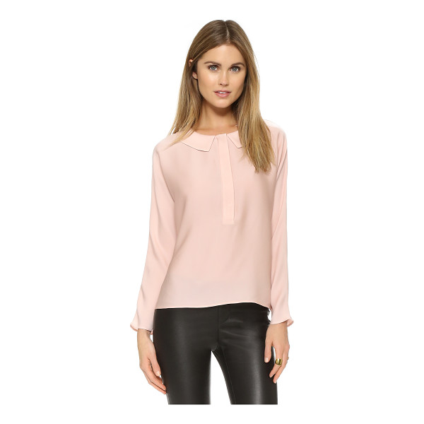 MILLY Dolman blouse - A modified peter pan collar brings subtle charm to this...