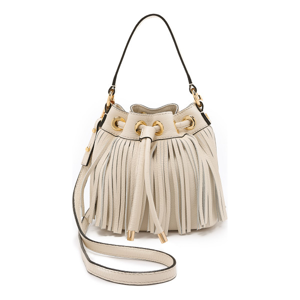 MILLY Essex small fringe bucket bag - A fringed leather Milly bucket bag with polished hardware....