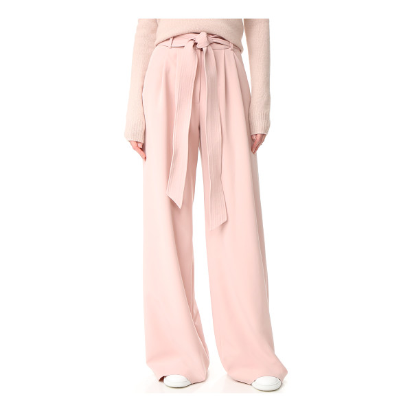 MILLY trapunto trousers - NOTE: Runs true to size. An optional, topstitched belt...