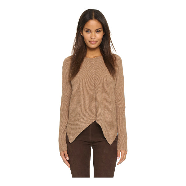 MILLY Mitered architectural pullover - A cropped profile and uneven hem lend a modern look to this...