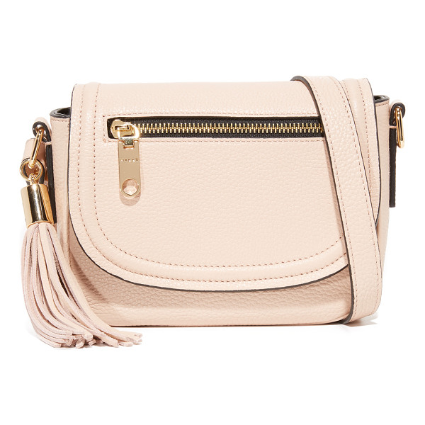 MILLY small astor saddle bag - A scaled-down Milly saddle bag crafted in pebbled leather....