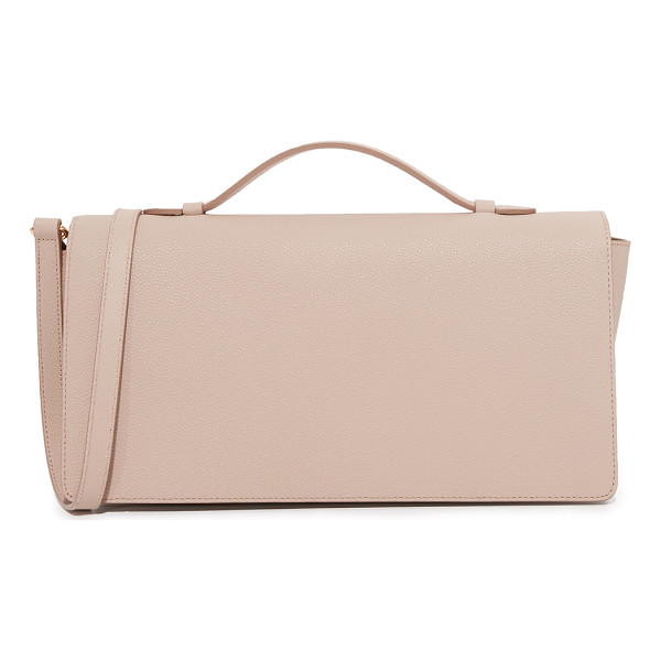 MILMA urban flap mini satchel - A structured MILMA bag in pebbled leather. Top flap and