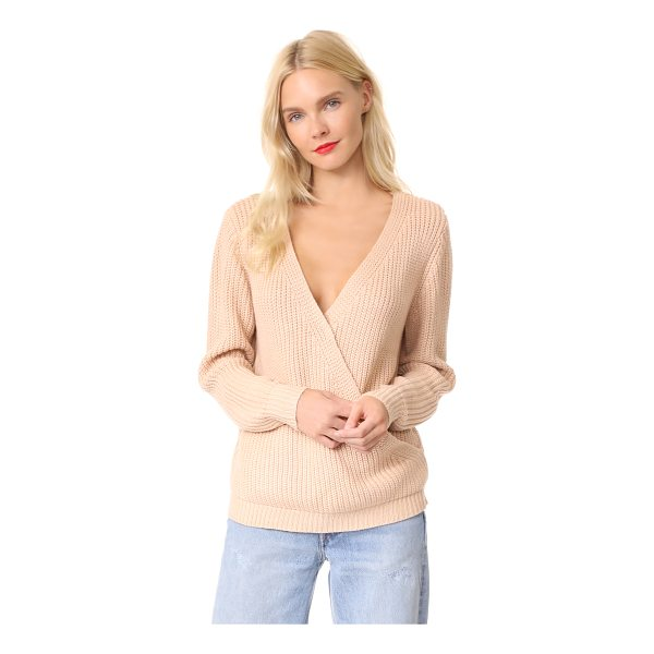 MINKPINK carmen wrap front sweater - A soft shaker knit composes this soft MINKPINK sweater....