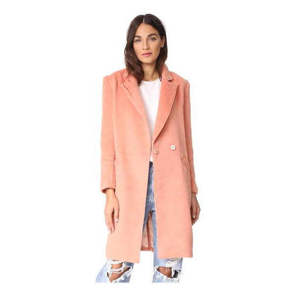 MINKPINK fearless coat - A fuzzy, brushed finish accentuates the cozy feel of this...