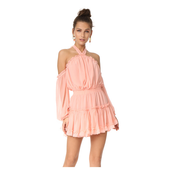 MISA indi dress - This airy, ruffled MISA dress is fashioned with breezy...