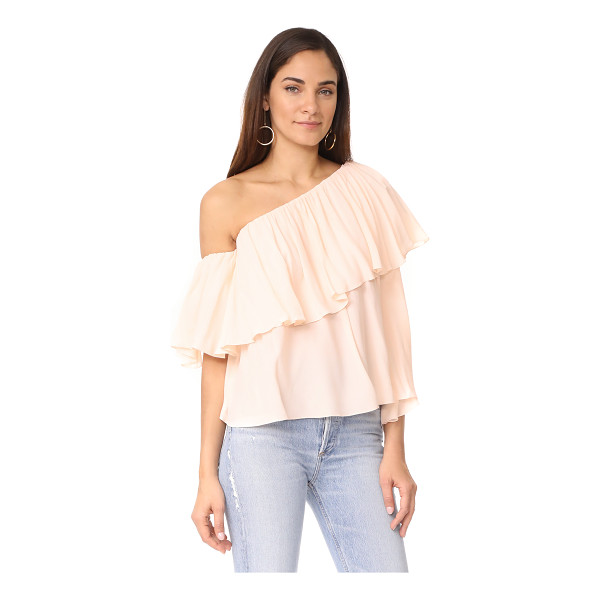 MLM LABEL one shoulder maison top - This asymmetrical MLM LABEL off-shoulder top has a ruffled...