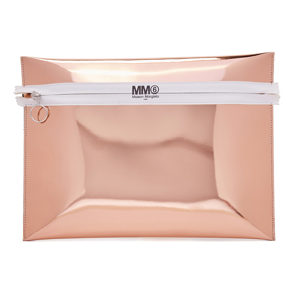 MM6 MAISON MARGIELA mirror clutch - Mirrored faux leather brings a glamorous touch to this MM6...