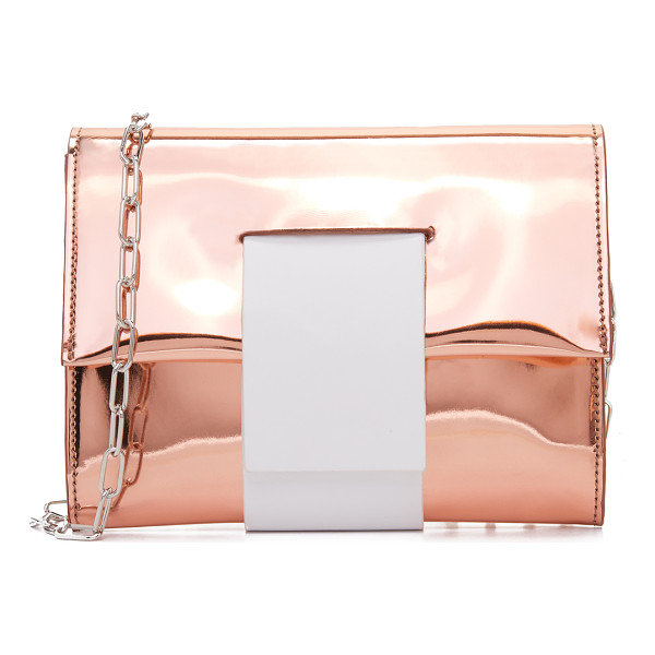 MM6 cross body clutch - Patent faux leather composes this striking MM6 cross-body