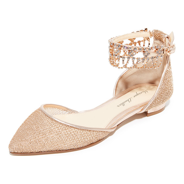 MONIQUE LHUILLIER BRIDESMAIDS clarke point toe flats - Glamorous Monique Lhuillier flats in sheer mesh covered...