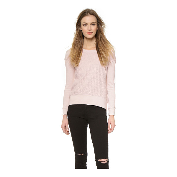 MONROW Quilted drop shoulder sweatshirt - Lattice quilting gives this MONROW sweatshirt a cool...