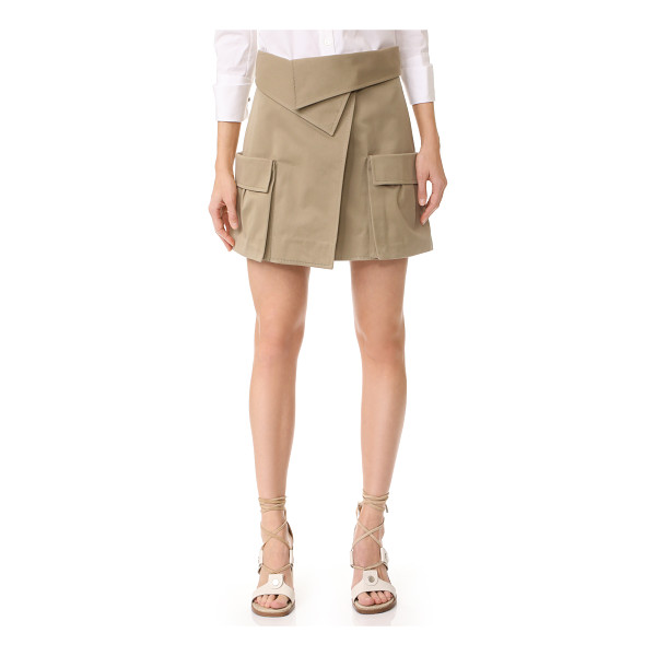 MONSE miniskirt - This Monse skirt offers a deconstructed take on utilitarian...