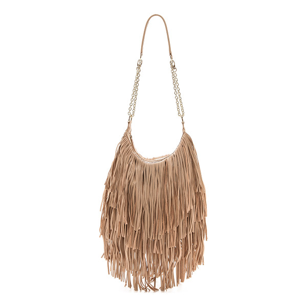 MONSERAT DE LUCCA Bochoa shoulder bag - Shaggy leather fringe brings allover movement to this