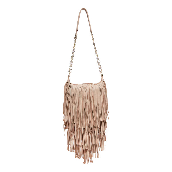 MONSERAT DE LUCCA Mini bochoa cross body bag - Tiered layers of fringe accent this Monserat De Lucca cross