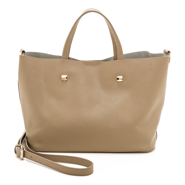 MONSERAT DE LUCCA Saffiano docente small tote - Polished hardware lends shine to this minimalist, saffiano...