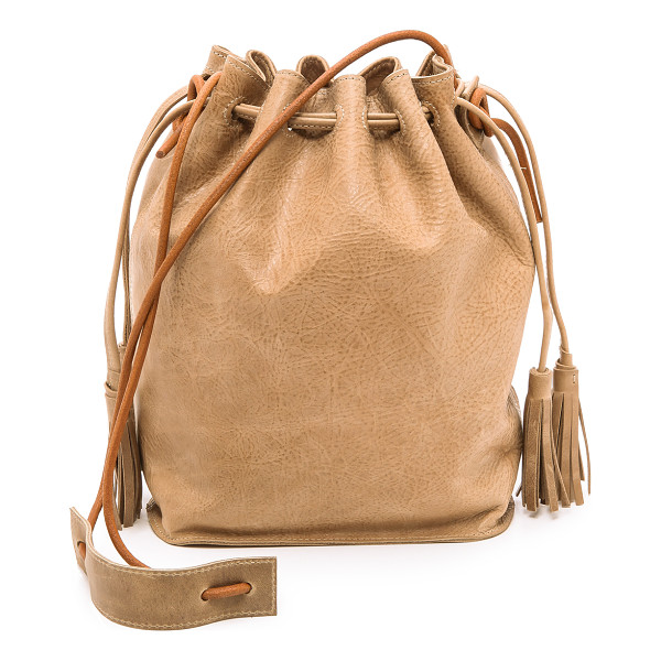 MONSERAT DE LUCCA Sancha drawstring bucket bag - Distressed leather brings a well worn look to this Monserat