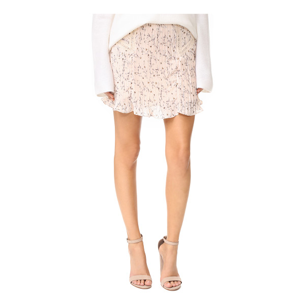 MOON RIVER pleated skirt - Crisp pleats create movement through this floral Moon River...